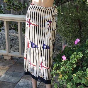Vintage Ralph Lauren Petite Silk Wrap Skirt